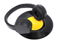 Black wireless headphones with vinyl record - PhotoDune Item for Sale