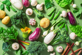 Fresh Vegetables on the Table, Healthy Eating Concept - PhotoDune Item for Sale