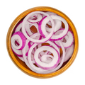 Red onion rings in a wooden bowl - PhotoDune Item for Sale