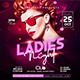 Ladies Night Flyer Template 2 - GraphicRiver Item for Sale