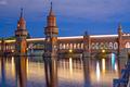 Oberbaum Bridge over the Spree River in Berlin, Germany - PhotoDune Item for Sale