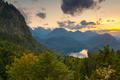 Bavarian Alps landscape in Germany at Dusk. - PhotoDune Item for Sale