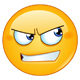 Angry Looking to Side Emoticon - GraphicRiver Item for Sale