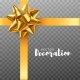 Bows Gold Realistic Design. Decorative Gift Bows - GraphicRiver Item for Sale