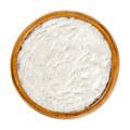 Baking powder, chemical leavening agent in a wooden bowl - PhotoDune Item for Sale
