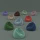 lot of ten colored flock beanbags - 3DOcean Item for Sale