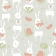Seamless Pattern with Rabbits and Watermelon - GraphicRiver Item for Sale