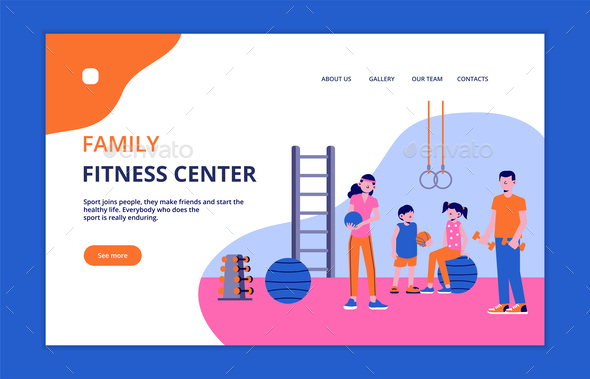 Family Sport Landing Page