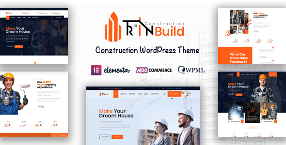 Rin Build - Construction Company WordPress Theme