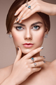 Fashion portrait of young beautiful woman with jewelry - PhotoDune Item for Sale