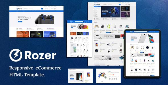 Review: Rozer – Electronics eCommerce HTML5 Template free download Review: Rozer – Electronics eCommerce HTML5 Template nulled Review: Rozer – Electronics eCommerce HTML5 Template