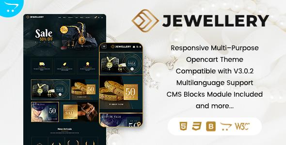 Download Jewelz Premium OpenCart Theme Nulled