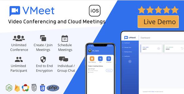 Vmeet - Video Conferencing & Meeting App (iOS + Admin Panel) Download