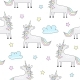 Childish Seamless Pattern with Unicorns - GraphicRiver Item for Sale