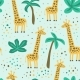 Childish Seamless Pattern with Giraffe - GraphicRiver Item for Sale