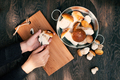 Wild Fresh Porcini and Female Hands - PhotoDune Item for Sale