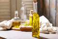 Olive oil with rosemary in glass bottles - PhotoDune Item for Sale