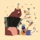 Birthday Card with Animals Playing Music - GraphicRiver Item for Sale