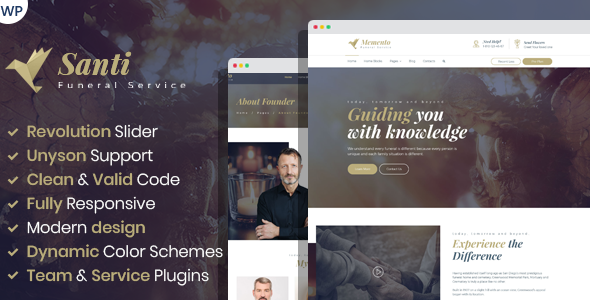 Santi -  Funeral Home WordPress Theme