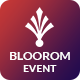 Bloorom event booking PSD template - ThemeForest Item for Sale