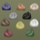 lot of ten colored leather beanbags - 3DOcean Item for Sale