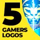 5 Gamers Stream Logos - VideoHive Item for Sale