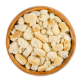 Dry bread cubes for stuffing in a wooden bowl - PhotoDune Item for Sale
