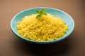 Cooked turmeric rice with curcumin or Haldi powder, Indian food - PhotoDune Item for Sale