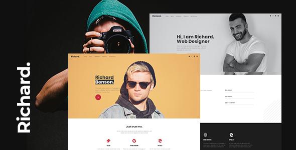 Richard - Onepage Personal WordPress Theme
