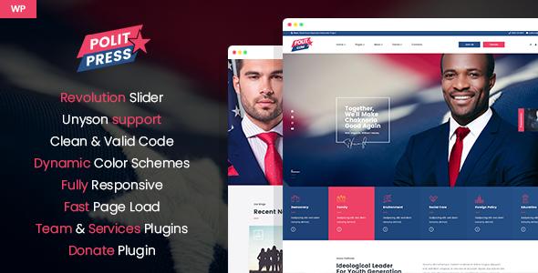 Politpress - Multipurpose Political WordPress theme