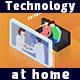 Technology At Home. Isometric Concepts. - VideoHive Item for Sale