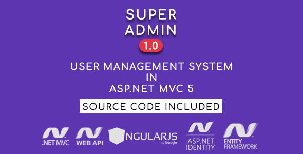 Super Admin - User Management System in ASP.NET MVC 5