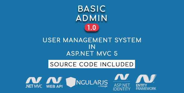 Basic Admin - User Management System in ASP.NET MVC 5