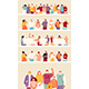 People Crowd In Masks Vector - GraphicRiver Item for Sale