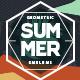 Geometric Summer Emblems Vector Set - GraphicRiver Item for Sale