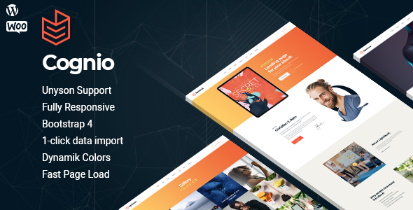 Cognio - Modern E-book Promo WordPress theme