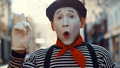 Surprised mime on the street - PhotoDune Item for Sale