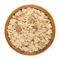 Smoked tofu, bean curd, crumbled by hand, in a wooden bowl - PhotoDune Item for Sale