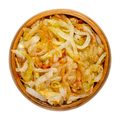 Onions, golden brown roasted, in a wooden bowl - PhotoDune Item for Sale