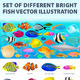 Set of Different Realistic Fish - GraphicRiver Item for Sale