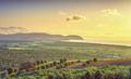 Maremma sunset panorama. Countryside, sea and Elba on horizon. San Vincenzo, Tuscany, Italy. - PhotoDune Item for Sale
