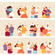 People In Love Couples Vector Set - GraphicRiver Item for Sale