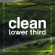Clean Lower Thirds I Premiere Pro (Mogrt) - VideoHive Item for Sale