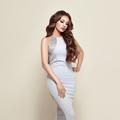 Beautiful woman in elegant white evening dress - PhotoDune Item for Sale