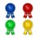 Award Rosette - Ribbon Icon Set - GraphicRiver Item for Sale