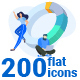 Flat Design Concept Icons Collection - GraphicRiver Item for Sale