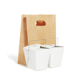 Takeaway Chinese Food Containers and Brown Paper Bag - PhotoDune Item for Sale