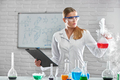 Female chemist working at the laboratory - PhotoDune Item for Sale