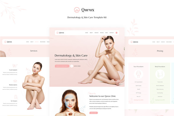 Qurux - Dermatology and Skin Care Template Kit