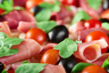 Shot of bacon,tomatoes and black olives - PhotoDune Item for Sale